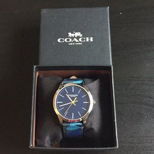 Coach Men's Blue Camo Watch